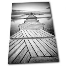Wooden jetty Sunset Seascape - 13-0564(00B)-TR32-PO